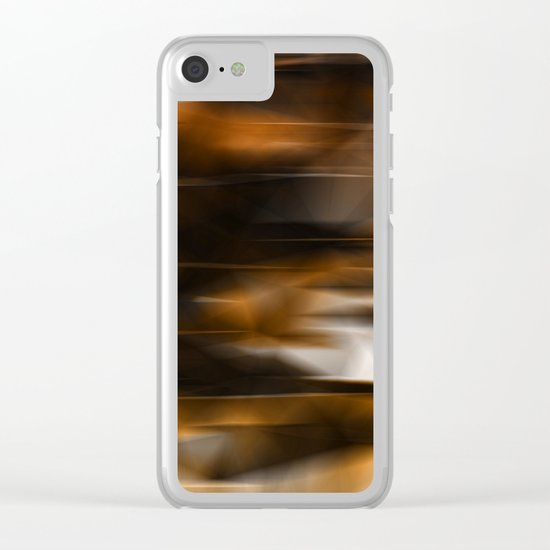 Lights and golden Clear iPhone Case