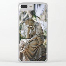 Bonaventure Cemetery - Statue of Eliza Wilhelmina Theus Clear iPhone Case