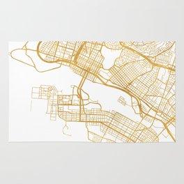 OAKLAND CALIFORNIA CITY STREET MAP ART Rug