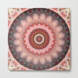 Mandala Teenage Girl Metal Print