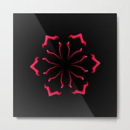 American Rose Red Kaleidoscope Pattern Metal Print