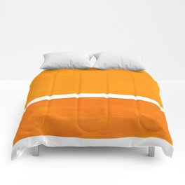 Antique Yellow  & Yellow Ochre Mid Century Modern Abstract Minimalist Rothko Color Field Squares Comforters