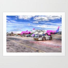 Wizz Air Aircraft Art Print