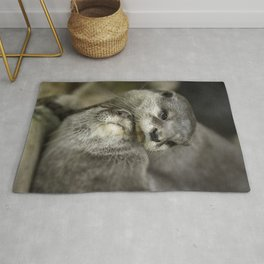 Otter Cuddle Rug