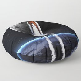Space shuttle Floor Pillow