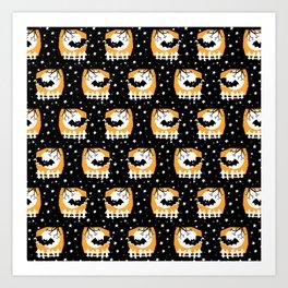 My favorite Bat -Pattern Art Print