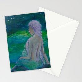 """Wish upon a star"" an original mixed media paitning by Katrina Koltes Stationery Cards"