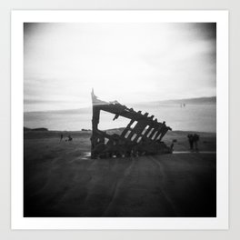 Peter Iredale Shipwreck - Oregon Coast Holga Double Exposure Art Print