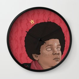 Baby MJ (red) Wall Clock