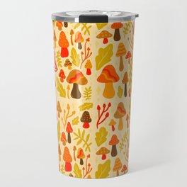 Spring Mushroom Print Travel Mug
