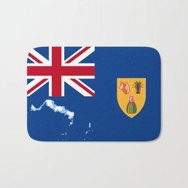 Turks and Caicos Islands TCI Flag with Island Maps Bath Mat