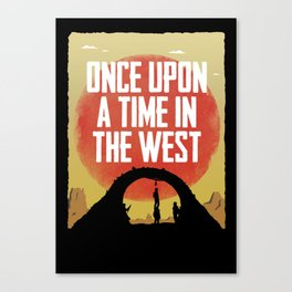 Once Upon a Time in the West - Hanging Canvas Print