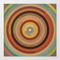 mod Canvas Prints featuring Mod  by Lori Wemple