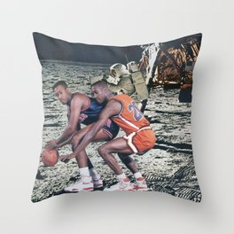 Space Ball - Vintage Collage Throw Pillow