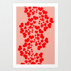 Fractal of Love (Valentine's Day) Art Print