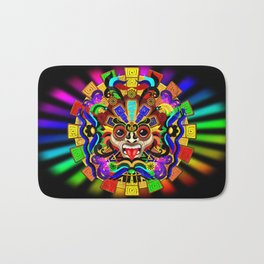 Aztec Warrior Mask Bath Mat