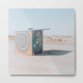 Not All Who Wander Are Lost / Slab City, California Metal Print