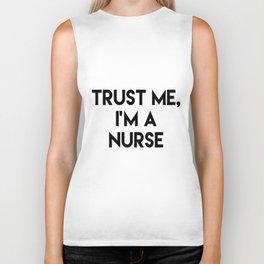 Trust me I'm a nurse Biker Tank