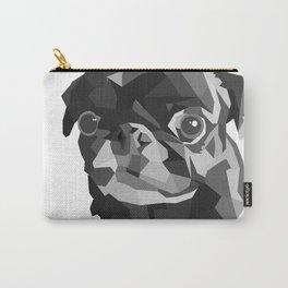 Pug Geometric art Black pugs Dog portrait Pet Carry-All Pouch