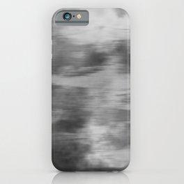 Smokey Mist (Gray) Illustration, Digital Watercolor Camo Blend - Fluid Art iPhone Case