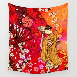 日没 (sunset) Wall Tapestry