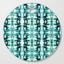 Tie-Dye Teals Cutting Board