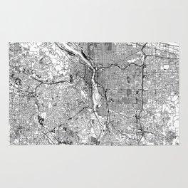 Portland White Map Rug