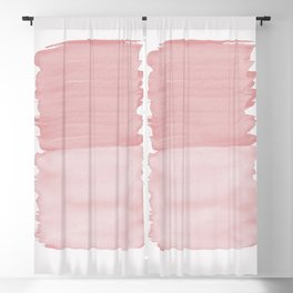 Blush Abstract Minimalism #1 #minimal #ink #decor #art #society6 Blackout Curtain