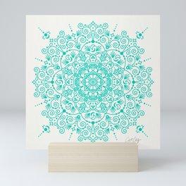 Moroccan Mandala – Turquoise Palette Mini Art Print