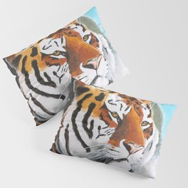 Quiet Tiger - big cat - animal - by LiliFlore Pillow Sham