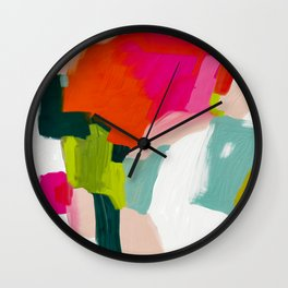 abstract pink art Wall Clock