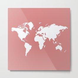 Pink Elegant World Metal Print