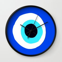 Evil Eye Talisman Lucky Charm Wall Clock