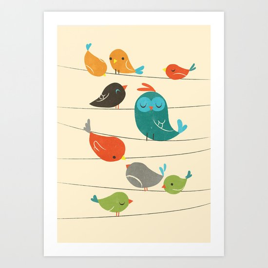 Colorful Birds Art Print