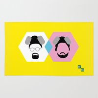 jesse pinkman Area & Throw Rugs featuring Breaking Bad | Walter White & Jesse Pinkman by Charlotte Batsford