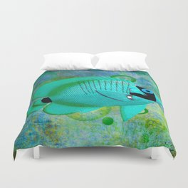 ANGEL FISH BLUE Duvet Cover