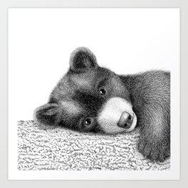 Sleepy bear Art Print