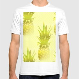 Pineapples Yellow Background #decor #society6 T-shirt