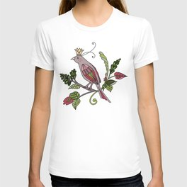 Royal crown bird - white T-shirt