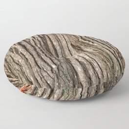 Wood bark Floor Pillow