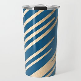 Swish - Orange Sherbet Shimmer on Saltwater Taffy Teal Travel Mug