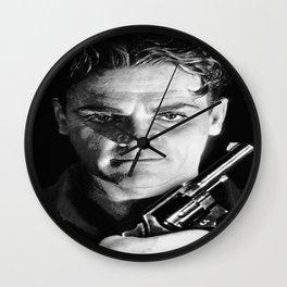 James Cagney Publicity Still Poster Slick Gun Grin Dangerous Wall Clock