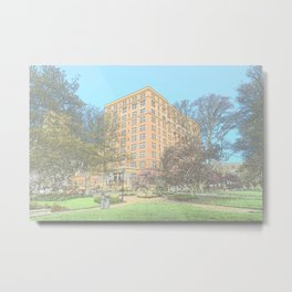 William Pitt Union and panther statue in Oakland 31 Metal Print