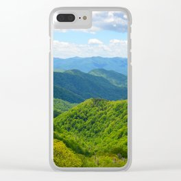 Smokey Mountain Summer Clear iPhone Case
