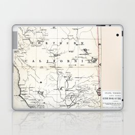 Northern California Map 1866 Laptop & iPad Skin