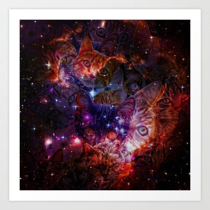 Kitty Galaxy Kunstdrucke