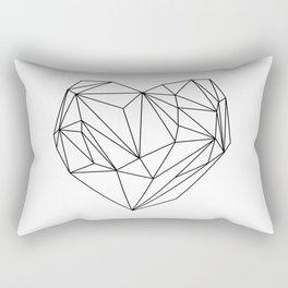 Heart Graphic (black on white) Rectangular Pillow