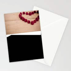 i heart you because you're sweet Stationery Cards