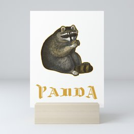 Carnivore Animals Wildlife Gift Save The Trash Panda Funny Raccoon Mini Art Print