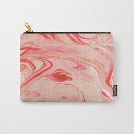 Red and pink marble abstract texture pattern Carry-All Pouch
